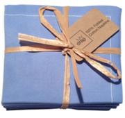 Sea Blue Cotton Folded Napkin