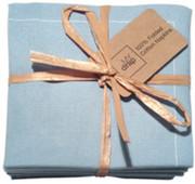 Sky Blue Cotton Folded Napkin
