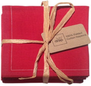 Lipstick Red Cotton Folded Napkin