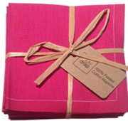 Fuchsia Cotton Folded Napkin