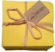 Lemon Cotton Folded Napkin