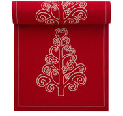 Red with Tree Cotton Printed Luncheon Napkin