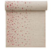 Natural Fading Stars Linen Printed Dinner Napkin