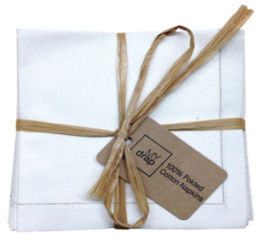Ecru Cotton Folded Napkin