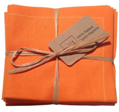 Orange Cotton Folded Napkin