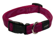 Rogz Alpinist Medium 16mm Matterhorn Dog Collar, Pink Rogz Design(HB23-K)