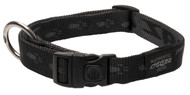 Rogz Alpinist Large 20mm K2 Dog Collar, Black Rogz Design(HB25-A)