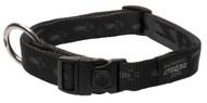 Rogz Alpinist Large 20mm K2 Dog Collar, Black Rogz Design(HB25-A)