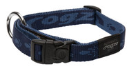 Rogz Alpinist Large 20mm K2 Dog Collar, Blue Rogz Design(HB25-B)