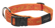 Rogz Alpinist Large 20mm K2 Dog Collar, Orange Rogz Design(HB25-D)
