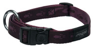 Rogz Alpinist Large 20mm K2 Dog Collar, Purple Rogz Design(HB25-E)