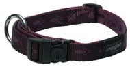Rogz Alpinist Large 20mm K2 Dog Collar, Purple Rogz Design(HB25-E)
