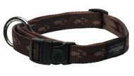 Rogz Alpinist Large 20mm K2 Dog Collar, Chocolate Rogz Design(HB25-J)