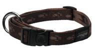 Rogz Alpinist Large 20mm K2 Dog Collar, Chocolate Rogz Design(HB25-J)