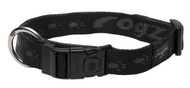 Rogz Alpinist Extra Large 25mm Everest Dog Collar, Black Rogz Design(HB27-A)