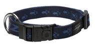 Rogz Alpinist Extra Large 25mm Everest Dog Collar, Blue Rogz Design(HB27-B)