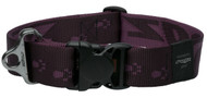 Rogz Alpinist Extra Extra Large 40mm Big Foot Dog Collar, Purple Rogz Design(HB29-E)