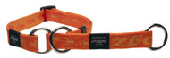 Rogz Alpinist Medium 16mm Matterhorn Web Half-Check Dog Collar, Orange Rogz Design(HBC23-D)
