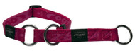 Rogz Alpinist Medium 16mm Matterhorn Web Half-Check Dog Collar, Pink Rogz Design(HBC23-K)