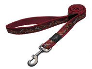 Rogz Fancy Dress Small 11mm Jellybean Fixed Dog Lead, Red Bones Design(HL01-X)