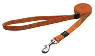 Rogz Alpinist Medium 16mm Matterhorn Fixed Dog Lead, Orange Rogz Design(HL23-D)