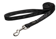 Rogz Alpinist Large 20mm K2 Fixed Dog Lead, Black Rogz Design(HL25-A)