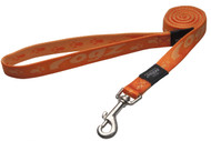 Rogz Alpinist Large 20mm K2 Fixed Dog Lead, Orange Rogz Design(HL25-D)