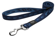 Rogz Alpinist Extra Large 25mm Everest Fixed Dog Lead, Blue Rogz Design(HL27-B)