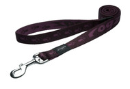 Rogz Alpinist Extra Large 25mm Everest Fixed Dog Lead, Purple Rogz Design(HL27-E)