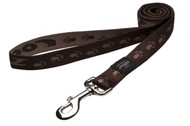 Rogz Alpinist Extra Large 25mm Everest Fixed Dog Lead, Chocolate Rogz Design(HL27-J)