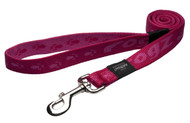 Rogz Alpinist Extra Large 25mm Everest Fixed Dog Lead, Pink Rogz Design(HL27-K)