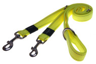 Rogz Utility Small 11mm Nitelife Multi-Purpose Dog Lead, Dayglo Yellow Reflective(HLM14-H)