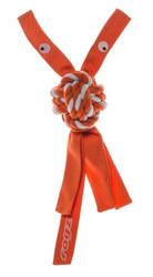 Rogz Cowboyz  Dog Knot Chew Toy  Orange