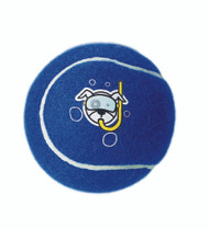 Rogz Molecule Dog Tennis Ball Toy, Blue