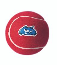Rogz Molecule  Dog Tennis Ball Toy, Red