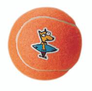 Rogz Molecule Dog Tennis Ball Toy, Orange