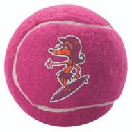 Rogz Molecule Dog Tennis Ball Toy, Pink