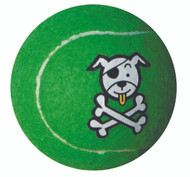 Rogz Molecule Dog Tennis Ball Toy, Lime