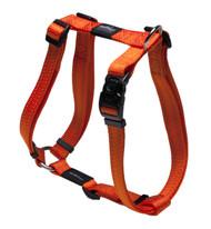 Rogz Utility Extra Large 25mm Lumberjack Dog H-Harness, Orange Reflective