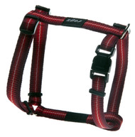 Rogz Pavement Special Small 11m Midget Dog H-Harness, Red Design