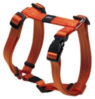 Rogz Utility Medium 16mm Snake Dog H-Harness, Orange Reflective