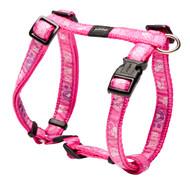 Rogz Fancy Dress Medium 16mm Scooter Dog H-Harness, Pink Paws Design