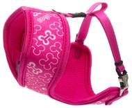 Rogz Lapz Small 12mm Trendy Wrapz Harness, Pink Bones Design
