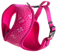 Rogz Lapz Extra Medium 16mm Trendy Wrapz Harness, Pink Bones Design
