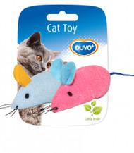 Duvo Cat Toy Mice Blue & Pink 2pcs