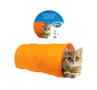 Duvo Cat Toy Play Tunnel Orange