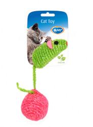 Duvo Cat Toy Nylon Mouse & Ball