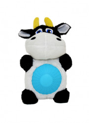 Duvo Dog Toy Cow with Squeaker Belly