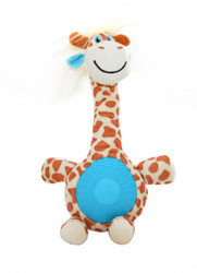 Duvo Dog Toy Giraffe with squeaker belly