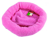 Duvo Sheepskin Bed Oval Pink Medium